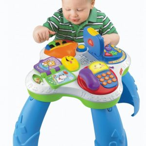 MESA DE ATIVIDADES BILINGUE FISHER PRICE LAUGH & LEARN PUPPY AND FRIENDS LEARNING TABLE