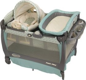 BER?O GRACO PACK' N PLAY PLAYARD WITH CUDDLE COVE ROCKING SEAT