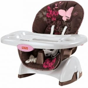 FISHER PRICE CADEIRA SPACE SAVER MOCHA BUTTERFLY