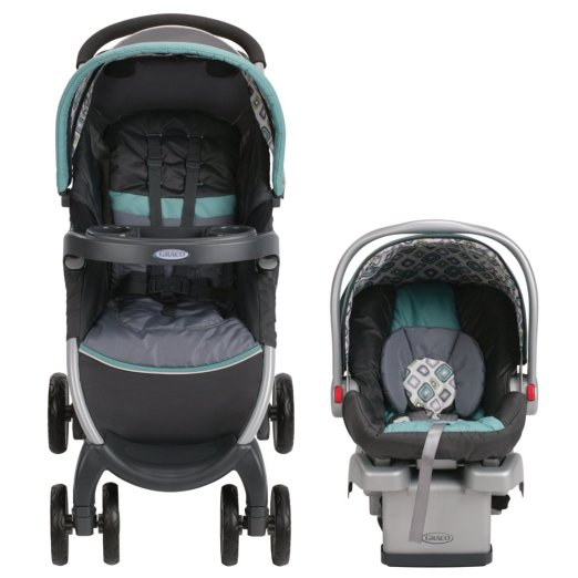 Carrinho Graco Fastaction Fold Click Connect Travel System, Affinia 2015