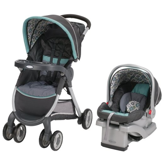 Carrinho Graco Fastaction Fold Click Connect Travel System, Affinia