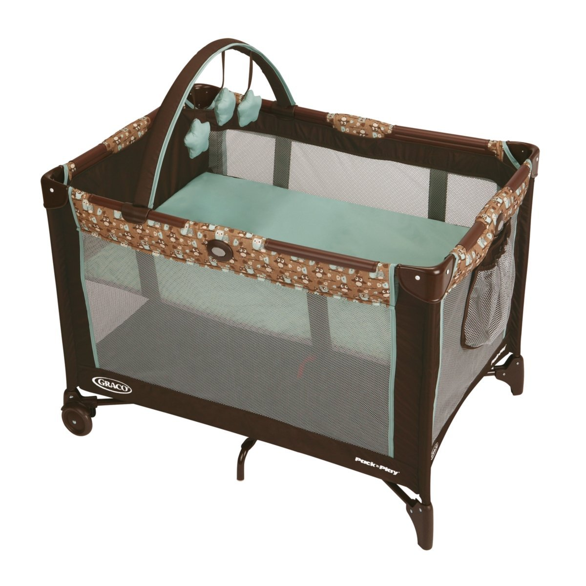 BER?O GRACO PACK' N PLAY PLAYARD WITH BASSINET - LITTLE HOOT