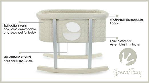 Ber?o Lily Pod Bassinet Cradle by Green Frog