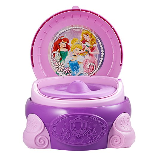 Penico Port?til Para Crian?as The First Years Disney Princess Magic Sparkle 3-In-1 Potty System
