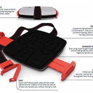 Assento Elevat?rio Para Crian?as Port?til Mifold Grab-and-Go Car Booster Seat Cor Verde