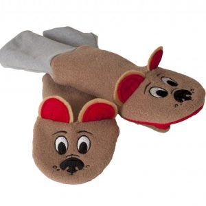 LUVA RESISTENTE A ?GUA SPUTTENS - THE SOCK PUPPET MITTEN COMPANY MARROM STAY ON