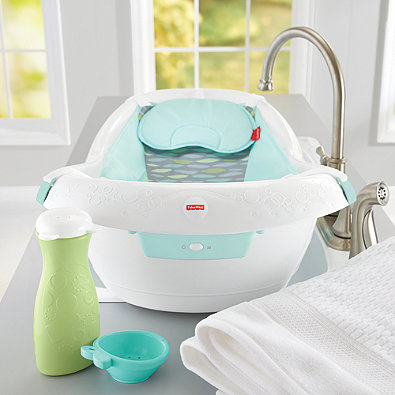 BANHEIRA FISHER PRICE CALMING WATER VIBRATIONS BLUE