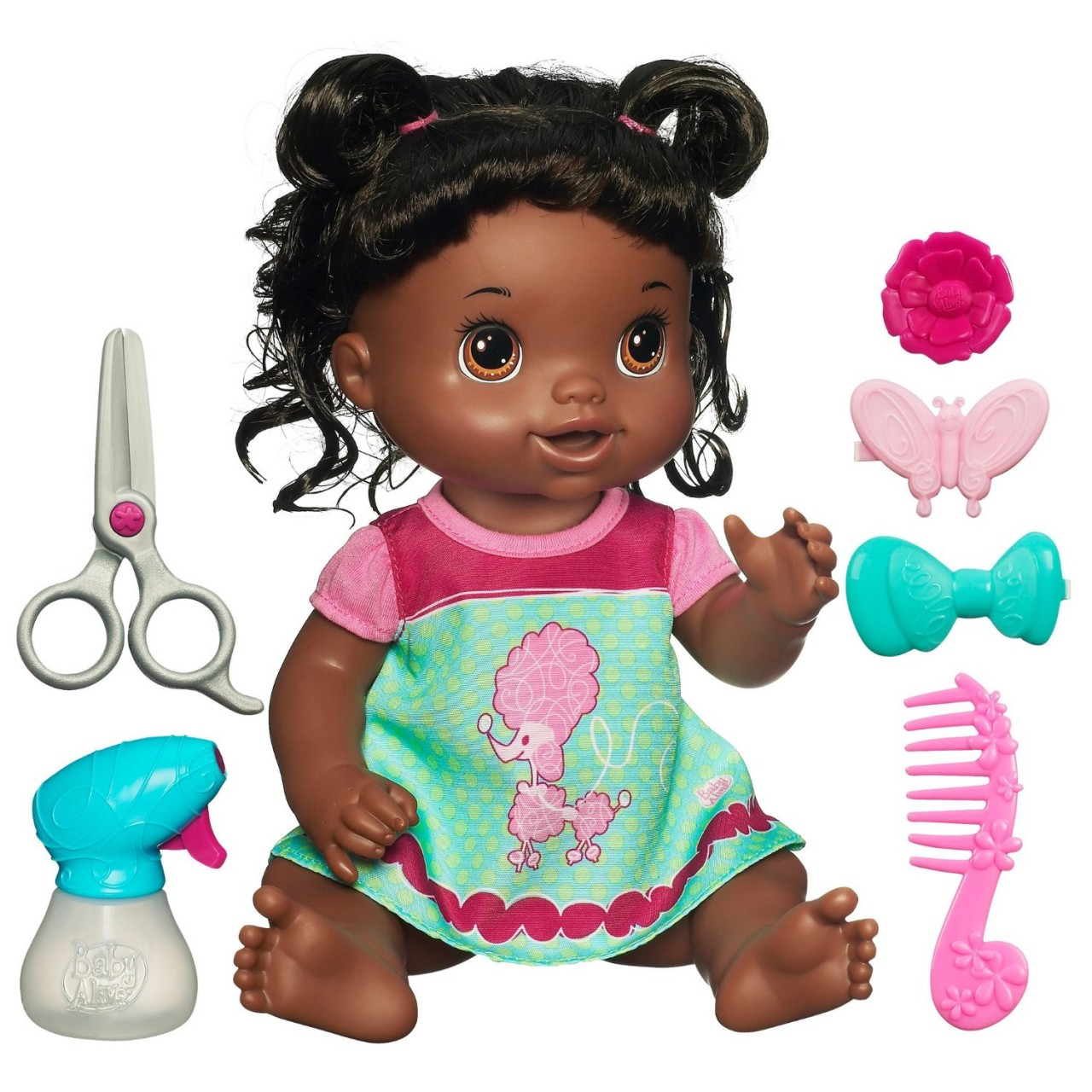 BONECA BABY ALIVE BEAUTIFUL NOW BABY DOLL - AFRICAN AMERICAN